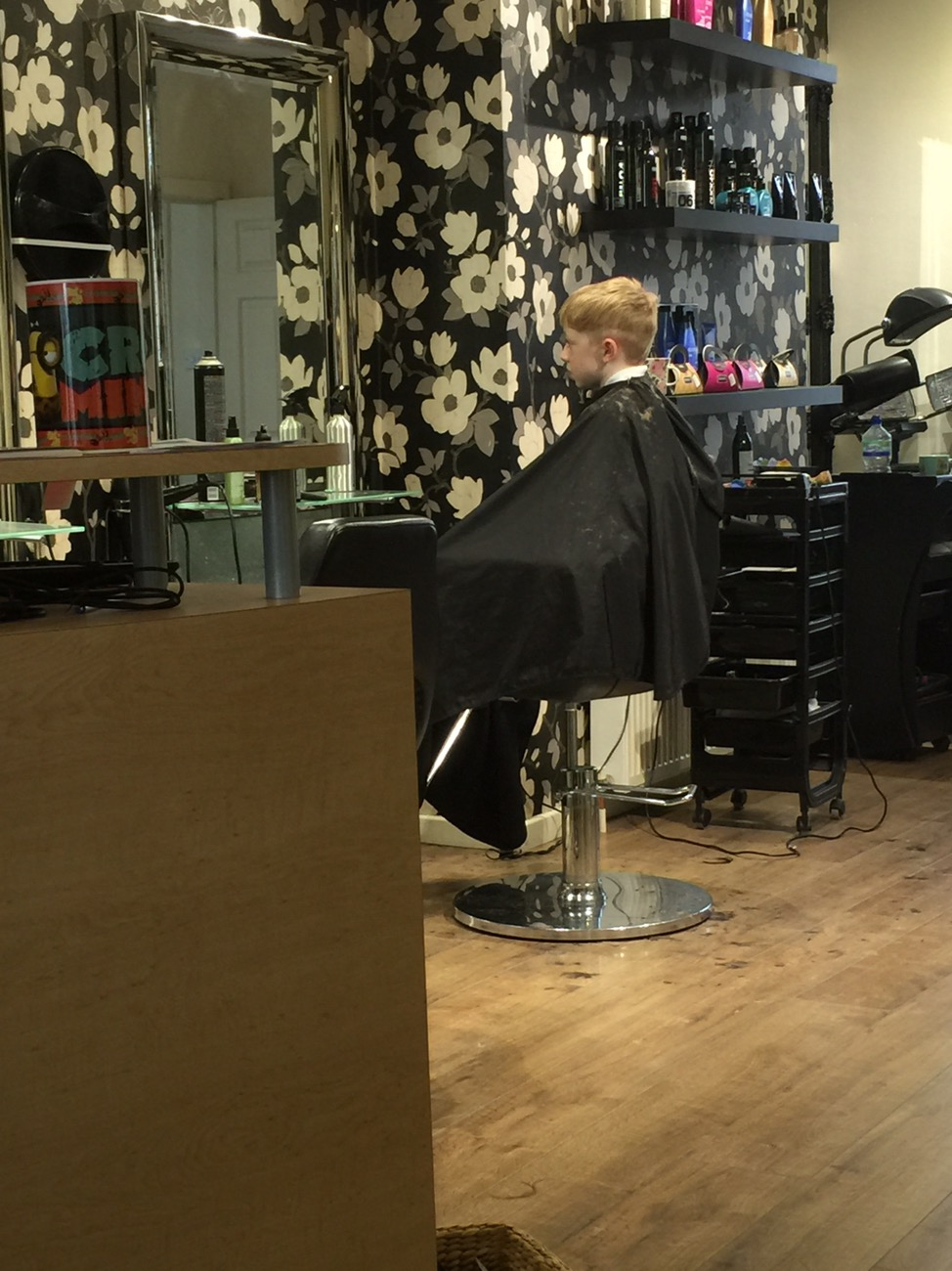 That Amazing Friday Feeling- J having his hair cut