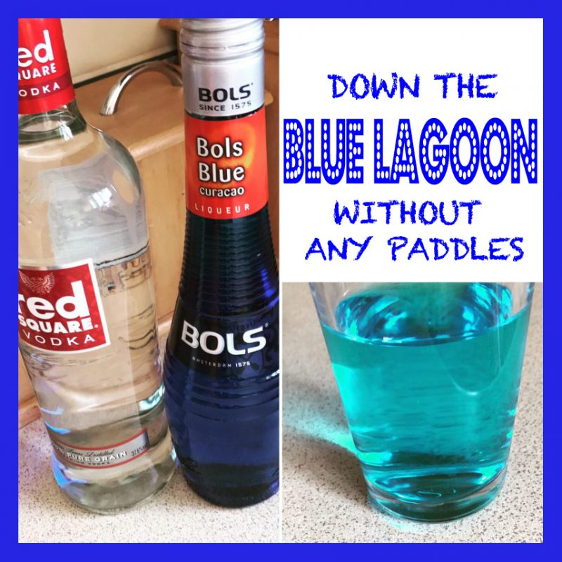 Down The 'Blue Lagoon' Without Paddles Cocktail Recipe
