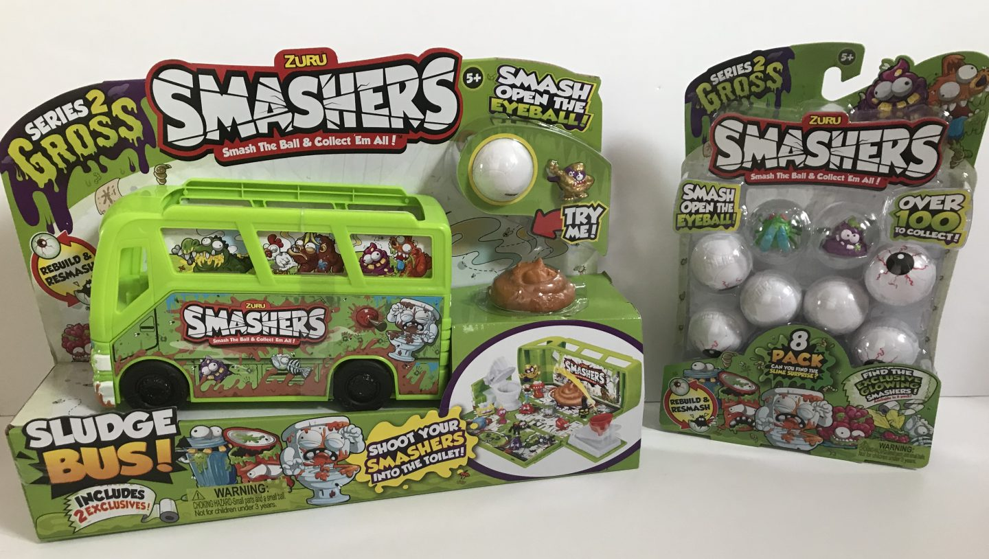 Have A Happy Halloween With The Latest Zuru Smashers Gross Series 2 Sludge Bus & Smashers Packs