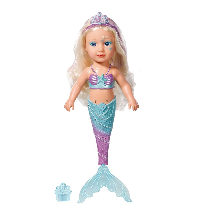 Taking A Dip With The Baby Born Little Sister Mermaid Doll