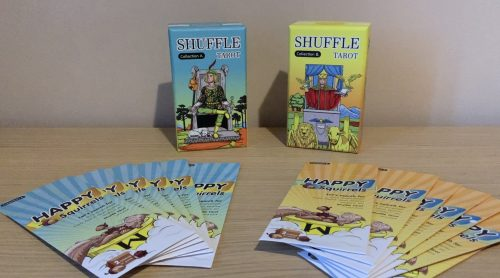 Flipping Through The Shuffle Tarot Collection A & B & Happy Squirrel Surprise Packs