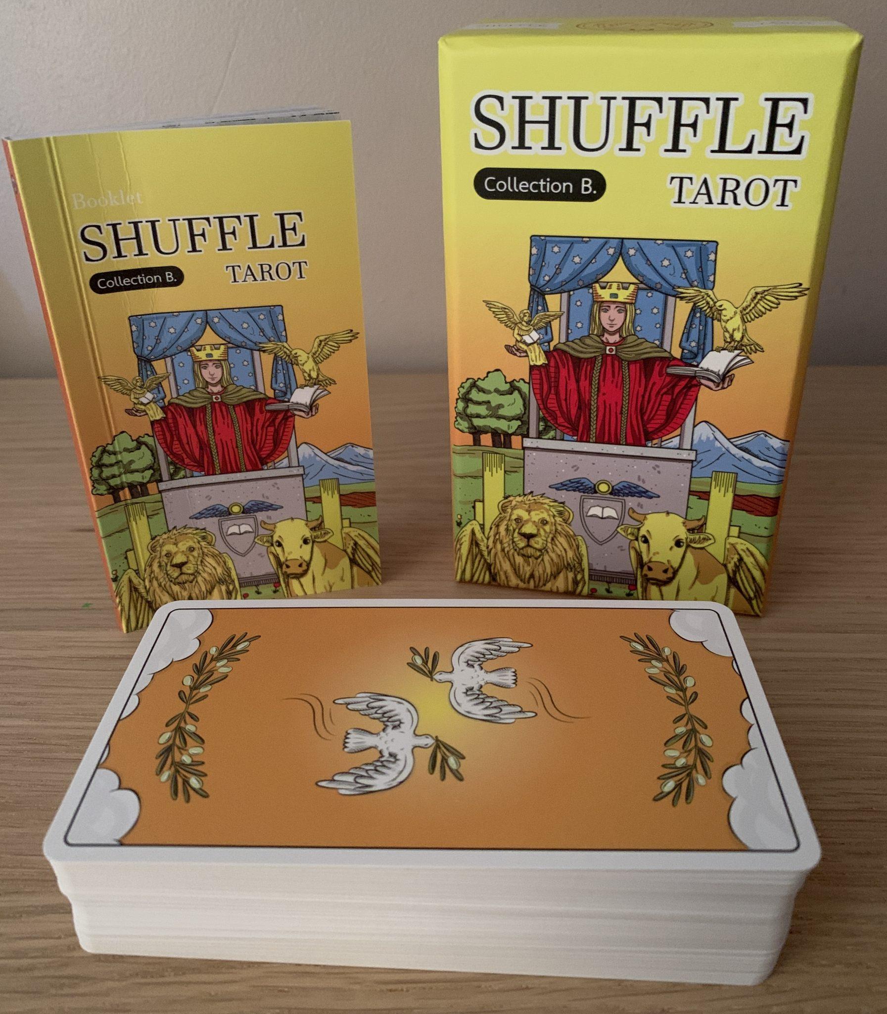 flipping through the shuffle tarot collection a  b